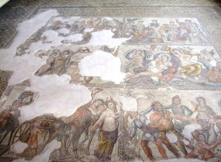 The huge mosaic in the House of Aion.