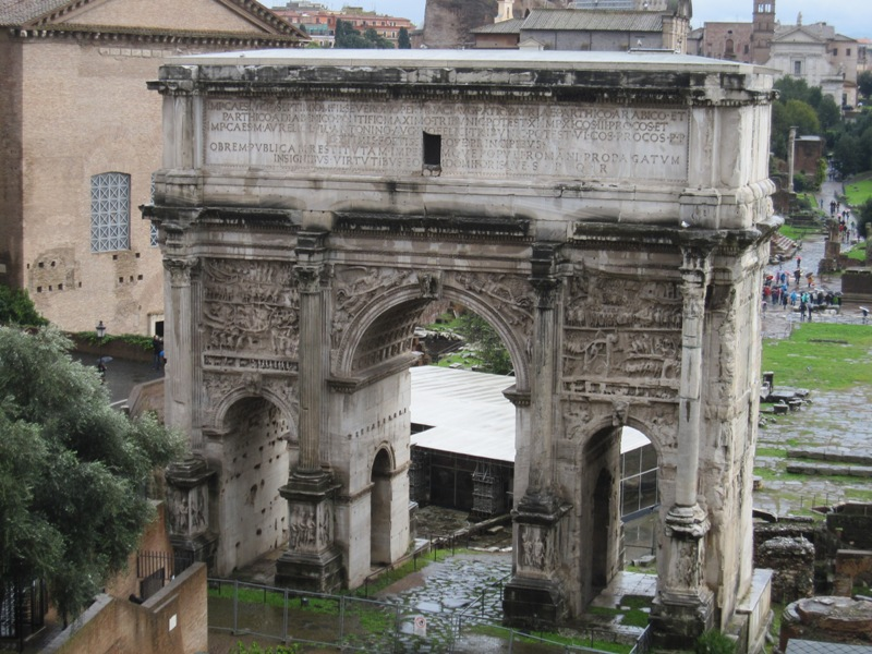 Arch of Septimius Severus on the Forum Romanum.