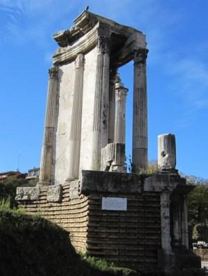 The Temple of Vesta on the Forum Romanum.