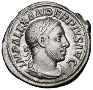 Denarius bearing the image of Alexander Severus (photo: Rasiel Suarez, CC BY-SA 3.0 license).
