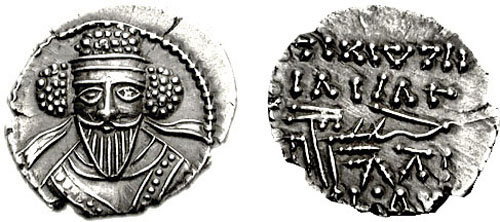 The Parthian King Vologases V (Classical Numismatic Group, Inc. http://www.cngcoins.com).