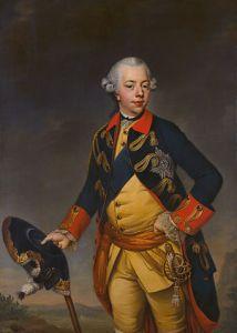 Stadhouder Willem V door Johann Georg Ziesenis (Mauritshuis, Den Haag).