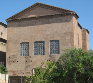 The Senate House on the Forum Romanum.