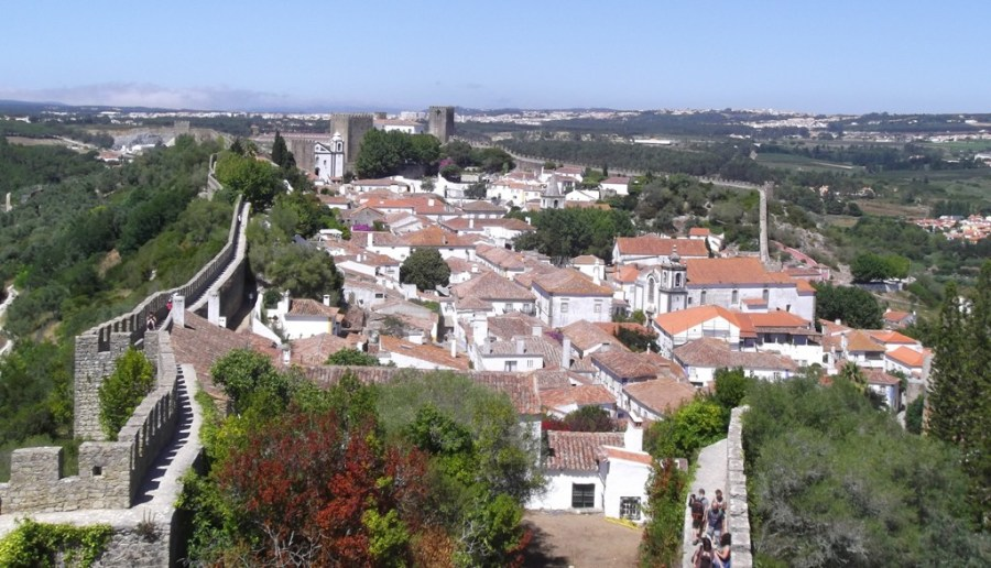 Panoramic view from the walls of Óbidos.