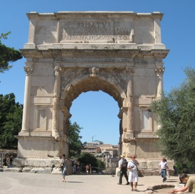 The Arch of Titus on the Forum Romanum.