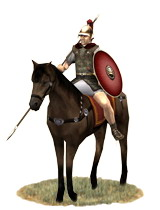 Roman horseman (eques) of a Republican legion.