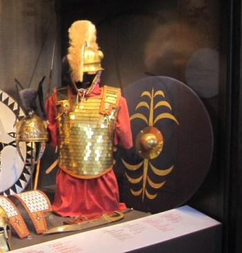 Equipment of a warrior from Picenum. The Piceni were Roman allies and served in the Roman armies. The famous general and politician Gnaeus Pompeius was from Picenum.