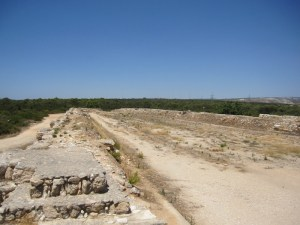 Remains of the stadium.