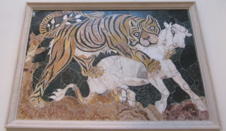 Tigress attacking a calf (Capitoline Museums, Rome).