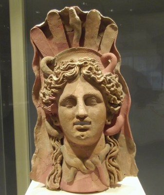 Mask representing either Demeter or Medusa, 3rd or 2nd century BCE (Musée national de Carthage).