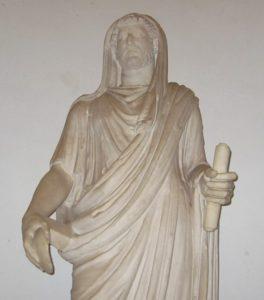 The emperor Hadrianus as pontifex maximus.