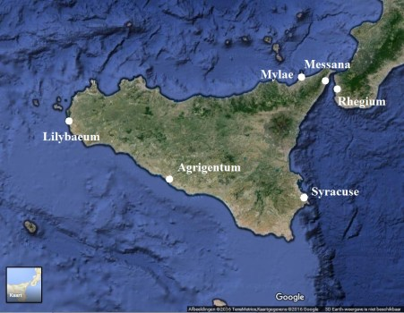 Map of Sicily.
