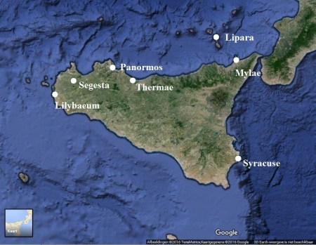 Map of Sicily (image/map: © TerraMetrics/Google)