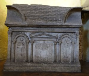 Large sarcophagus in the chapel.