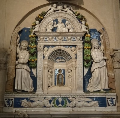 Tabernacle by Della Robbia.