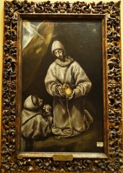 Saint Francis Meditating on Death - El Greco (workshop of).