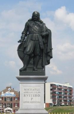 Standbeeld van Michiel de Ruyter te Vlissingen.