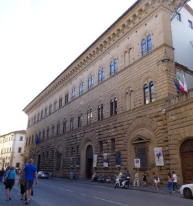 The Palazzo Medici Riccardi.