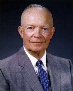 Dwight D. Eisenhower, president tussen 1953 en 1961.