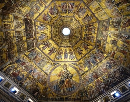 Ceiling of the Baptistery.