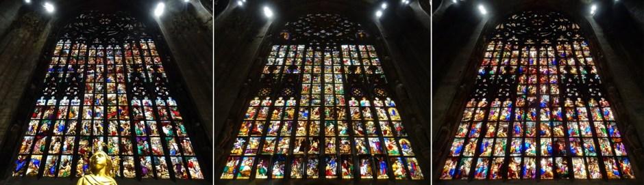 Impression of the apse windows.