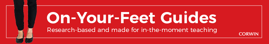 Banner displaying On-Your-Feet Guides: research-based and made for in-the-moment teaching