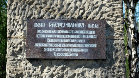 Plaque at the Stalag VIII A memorial in Görlitz. This image is shared under the creative commons license. Original here.