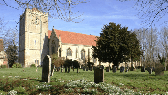 Dorchester Abbey, by Howard Stanbury. Original here, above cropped. Shared under the Creative Commons License.