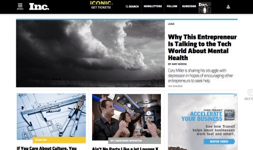 My interview on Inc Magazine's website with Amy Morin.