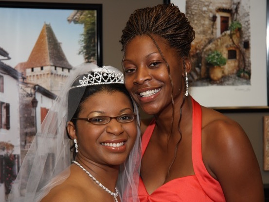 Sandra Bland and her sister Sharon Cooper on Sharon's wedding day. Sandra was the maid of honor. Photo: Courtesy of Sharon Cooper