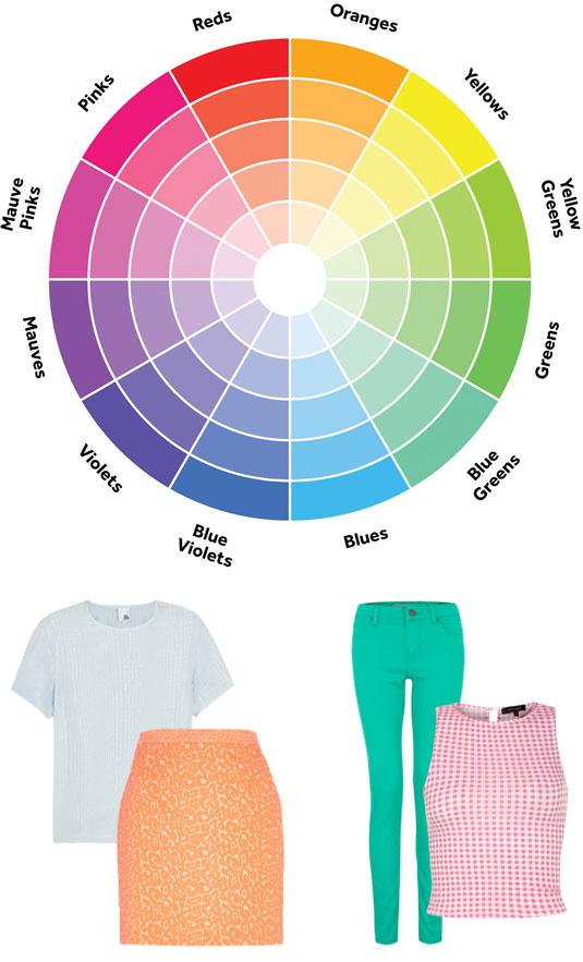 The color wheel - via Cosmopolitan