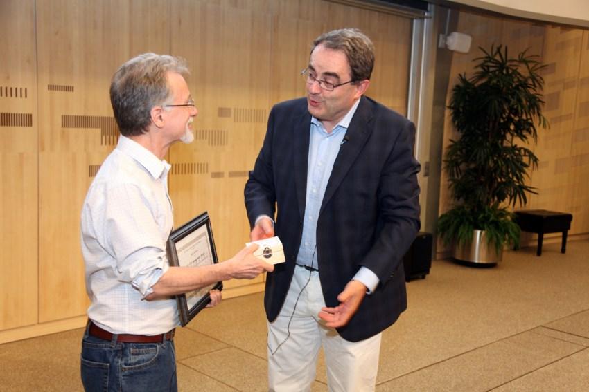 George Alverson receives award