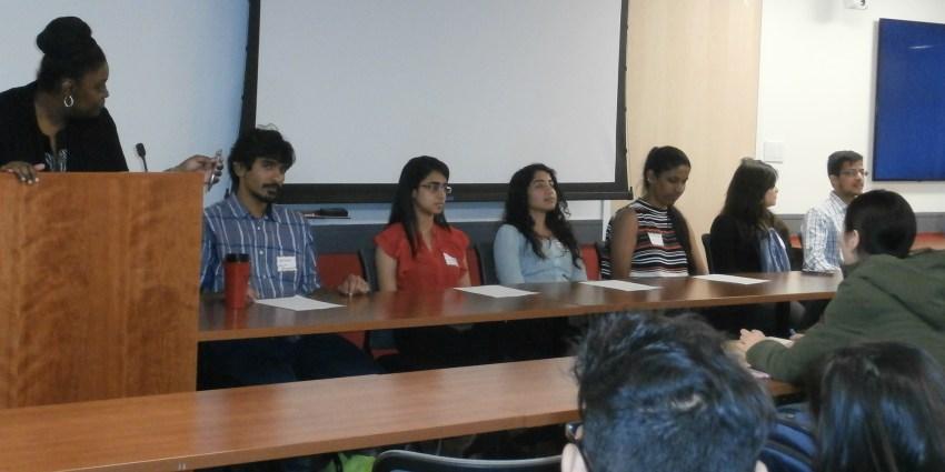 Pre-co-op panel, 6 MS Biotech students