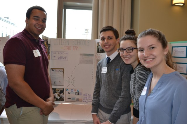 Microbes at Orchard Gardens, Presenters Sarah Menck, Isabella Miele, Harrison Dieuveuil, and Brenden Mullaley