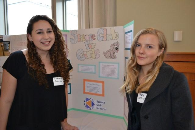 Science Club for Girls Curriculum Design, Presenters Nicole Marvas, Samara Sober, Gabrielle Galicia, and Mira Hartwig