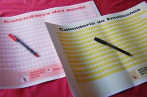 Calendario del Amor y Calendario de Emoticones, dos regalos originales y baratos para San Valentín