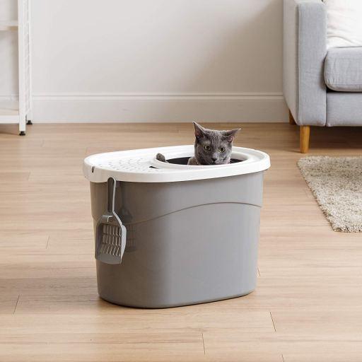 Higiénico arenero para gatos con entrada superior de IRIS