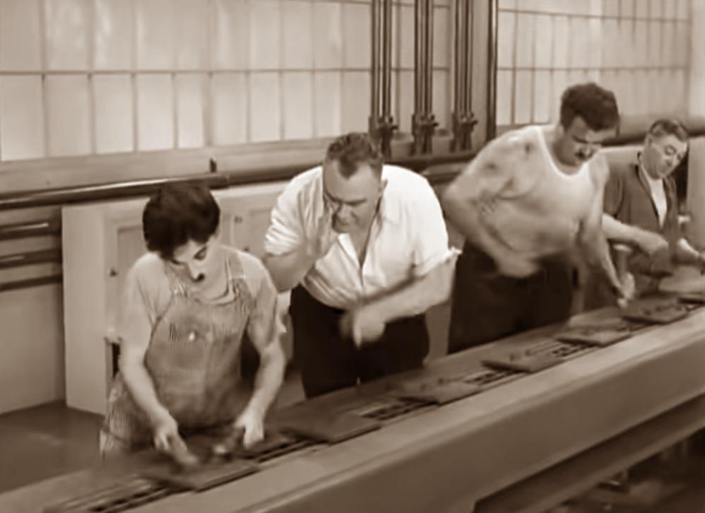 Herramientas de integración continua - assembly line - tiempos modernos - Charles Chaplin