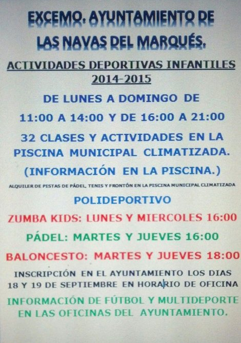 actividades_infantiles_Las Navas del Marqués