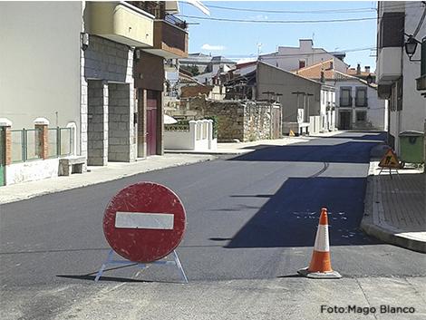 Calles recien asfaltadas