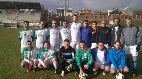 Equipo de veteranos de fútbol de las Navas del Marqués