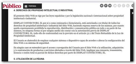 Diario Público- fragmento del Aviso legal