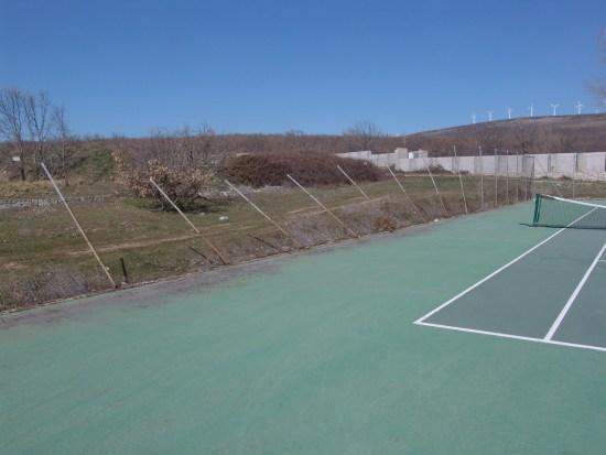 Estado a día de hoy de las pistas de tenis desde la última tormenta de aire y nieve.