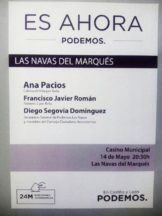 Mitin Podemos Las Navas del Marques