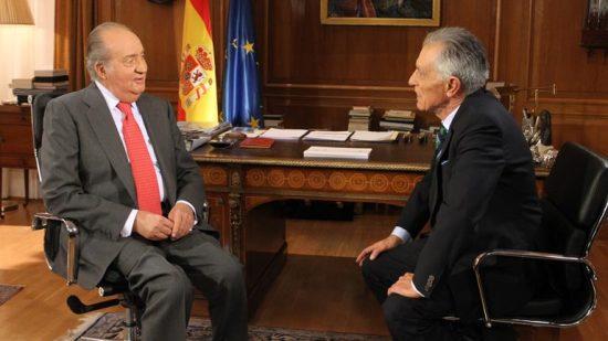 imagen de RTVE, en la entrevista al Rey Juan Carlos I