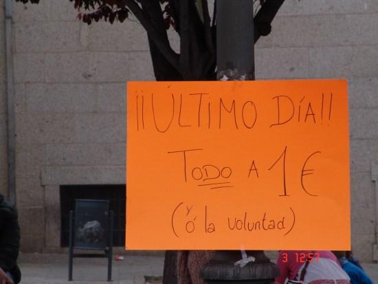 en la mañana de ayer los precios llegaron a rebajarse hasta llegar a todo a 1€ o la voluntad