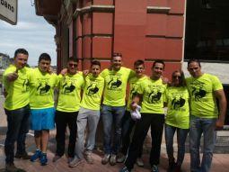 Equipo Navero con los tres arbitros internacionales que arbitraron el XXIV campeonato de Espana