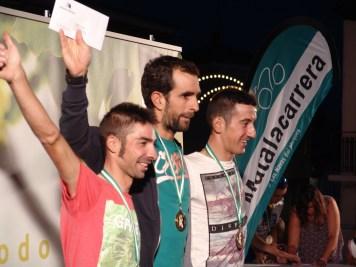 GENERAL-1º José Antonio de Botella (Centro);2º Marcos García y Premio al Sprint Especial (Izda.);3º Vicente García y Premio de la Montaña (Dcha.)