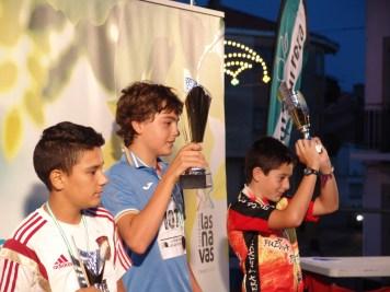 NIÑOS DE 12 A 14 AÑOS-1º Roberto de Jong;2º Janiel Herranz;3º Ismael Moral