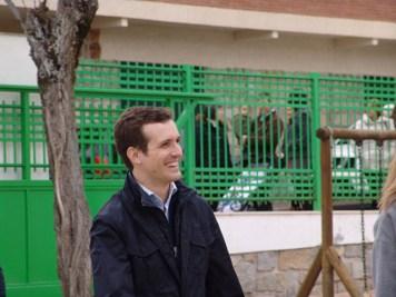 Pablo Casado en el colegio electoral